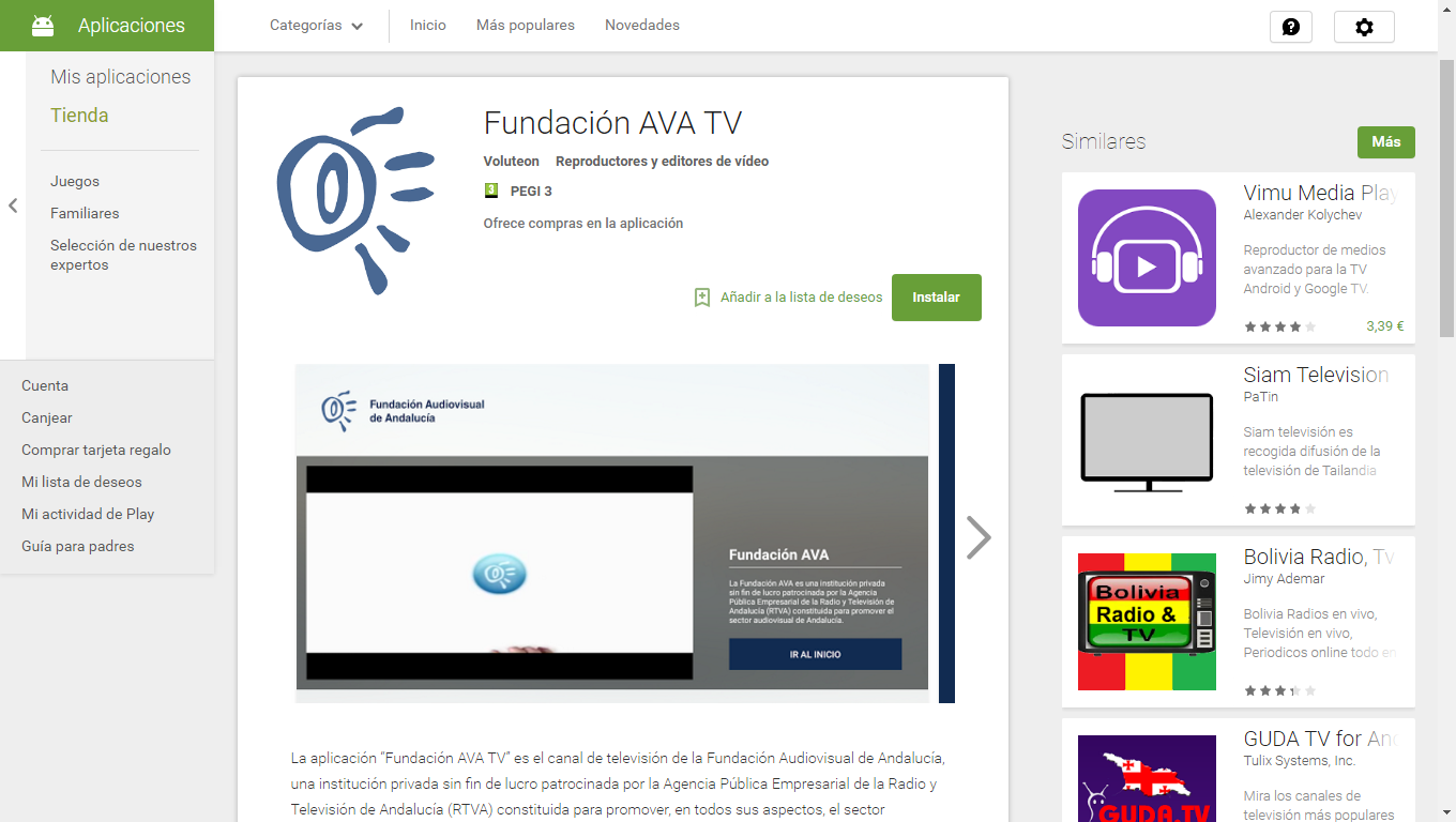 App Fundación AVA TV en Google Play